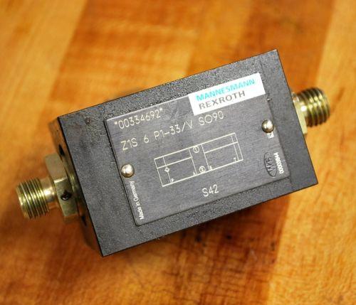 Rexroth Z1S6P1-33/VSO90 Hydraulic Check Valve - Z1S6P133/VSO90