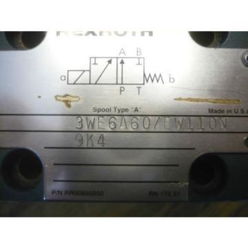 origin Mannesman Rexroth 3WE6A60/EW110N9K4 Directional Control Valve