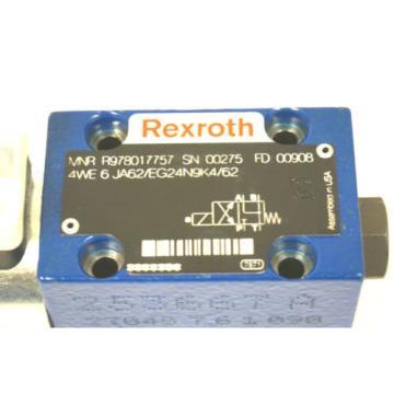 Origin REXROTH R978017757 CONTROL VALVE 4WE 6 JA62/EG24N9K4/62