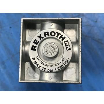 LOT OF 5 Origin REXROTH 5352700100 4-WAY PRESSURE VALVE REGLATOR REG 1/8BSP