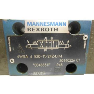 MANNESMANN REXROTH, HYDRAULIC VALVE, 4WRA 6 E20-11/24Z4/M