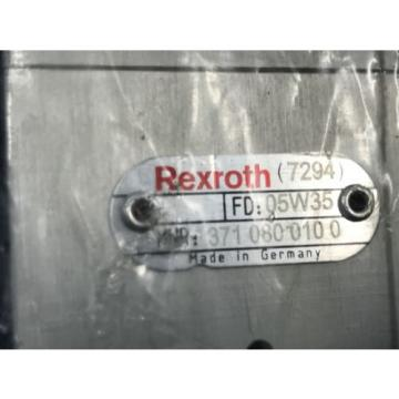 Origin REXROTH 371 080 010 0 DIRECTIONAL CONTROL VALVE 3710800100 U3
