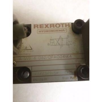 REXROTH VALVE_4 WE 6 D52/OFAG24NK4