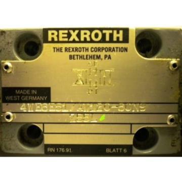 REXROTH VALVE 4WE6E51/AW120-60N9