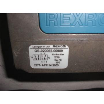 REXROTH GS-020062-00909 PNEUMATIC VALVE CERAM Origin IN THE BOX