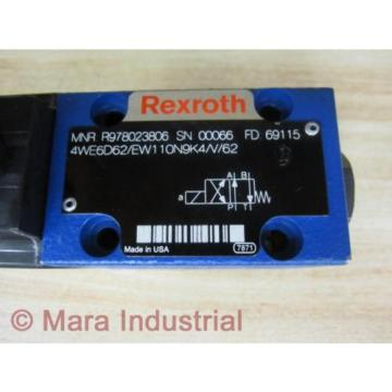 Rexroth China USA Bosch R987023806 Valve 4WE6D62/EW110N9K4/V/62 - New No Box