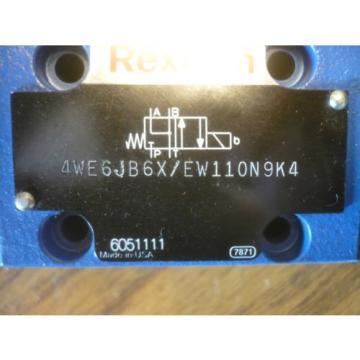 New Australia Greece Rexroth 4WE6JB6X/EW110N9K4 Directional Control Valve