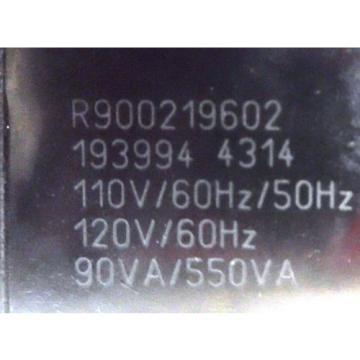 REXROTH, DIRECTRIONAL HYDRAULIC VALVE, MOD R978908567, SER 1849960, R900219602