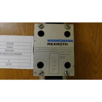 Rexroth Hydraulic Solenoid Valve 4WE10031/CH24N924 PT029