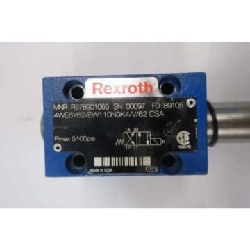 REXROTH 4WE6Y62/EW110N9K4/V/62 5100PSI SOLENOID HYDRAULIC VALVE D550748