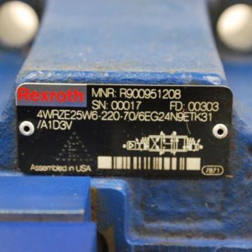 Rexroth USA Greece 4WRZE25W6-220-70/6EG24N9ETK31/A1D3V Valve, 3DREPE6C-20/25EG24N9K31/A1V.