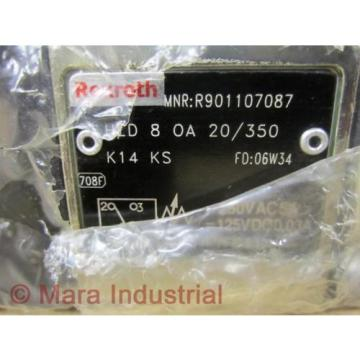 Rexroth Singapore Dutch Bosch R901107087 Valve HED 8 0A 20/350 K14 KS