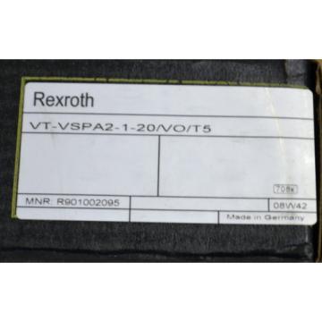 REXROTH Mexico India VT-VSPA2-1-20/VO/T5 MANNESMANN MNR: R901002095 NEU OVP VERSCHWEISST