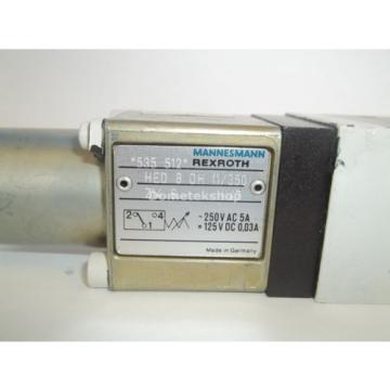 Mannemann Rexroth HSZ 06 A608-31/M00 X08269 Hydraulic Valve with HED 8 0H 11/350