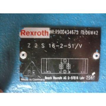New Japan Australia Rexroth R900434675 Z2S16-2-51/V Valve