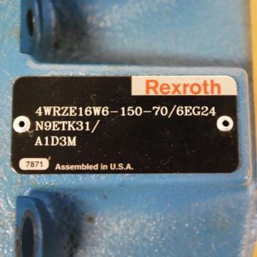 Rexroth 4WRZE16W6-150-70 Main Valve 4WRZE16W6-150-70/6EG24N9ETK31/A1D3M - USED