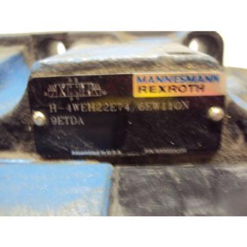MANNESMANN REXROTH VALVE H-4WEH22E74/6EW110N 9E TDA  USED