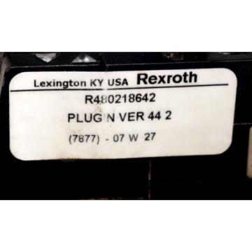 NEW Mexico china REXROTH R480218642 VALVE PLUGIN VER 44 2 W/ 261-108-120-0 VALVE