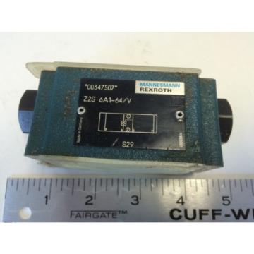 Origin REXROTH HYDRAULIC VALVE Z2S 6A1-64/V 00347507 BV