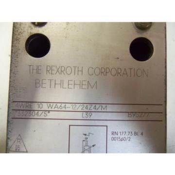 REXROTH PROPORTIONAL VALVE 4WRE 10 WA64-12/24Z2/M Origin