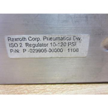 Rexroth Dutch Germany Bosch Group P-029905-00000 Valve 10-120 PSI P02990500000 - Used