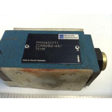 Origin REXROTH HYDRAULIC ZDR6DB2-43/75YM   RR00431771    00003844 VALVE   GB