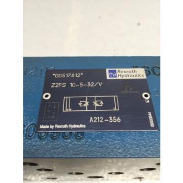 Rexroth Z2FS 10-5-32/V Throttle Check Valve A212-356 B49