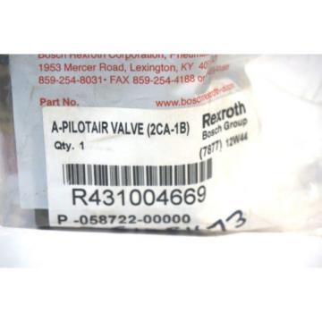 Origin REXROTH BOSCH R431004669 PILOT AIR VALVE
