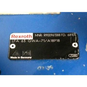 REXROTH LFA63GWA-71/A18P18 HYDRAULIC CARTRIDGE VALVE R900961388 Origin