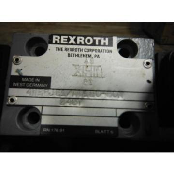 REXROTH VALVE 4WE6J51/AW120-60N ~ USED