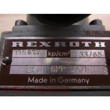 Rexroth 2LNF 6PP 2A/B Control Valve - origin No Box