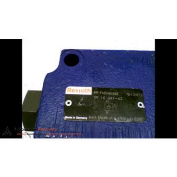 REXROTH SV 10 GA1-42 HYDRAULIC VALVE CHECK PRESSURE RELIEF #167150