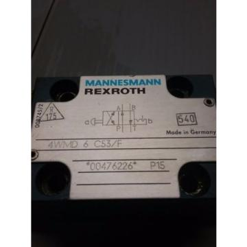 REXROTH MANNESMANN HYDRAULIC VALVE_4WMD 6 C53/F_4WMD6C53F_TNS-65/80D