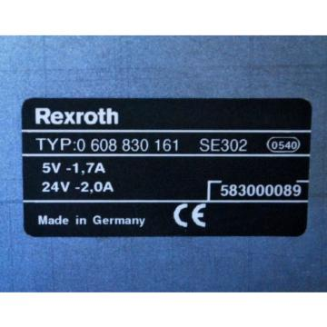Bosch Italy Australia Rexroth 0 608 830 161 Controller, 5V-1.7A, 24V-2.0A