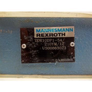 REXROTH ZDR10DP1-54/210YM/12 HIGH PRESSURE REDUCING VALVE P/N: RR006808