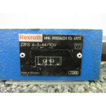 REXROTH BOSCH SANDWICH THROTTLE CHECK VALVE Z2FS R900586224 KEYED FLOW Origin