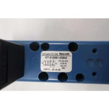 Origin REXROTH GT-010061-03940 PNEUMATIC VALVE BODY D528199