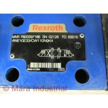 Rexroth Bosch R900597186 Valve 4WE10E33/CW110N9K4 - origin No Box