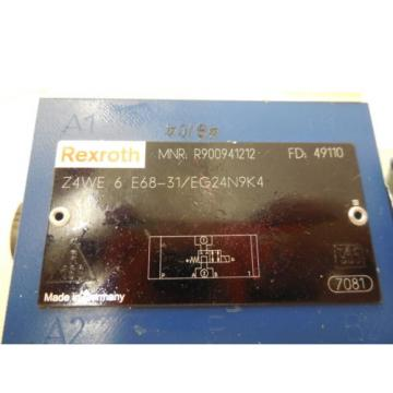 Origin REXROTH Z4WE-6-E68-31/EG24N9K4 VALVE Z4WE6E6831EG24N9K4