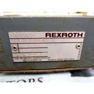 REXROTH LFA 25 GWA-60/12 HYDRAULIC VALVE MANIFOLD