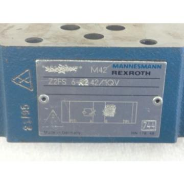 Origin  REXROTH Z2FS-6-A2-42/1QV  HYD THROTTLE CHECK VALVE  FAST SHIP A139