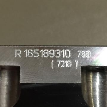 Origin REXROTH LINEAR RUNNER BLOCK PN# R165189310
