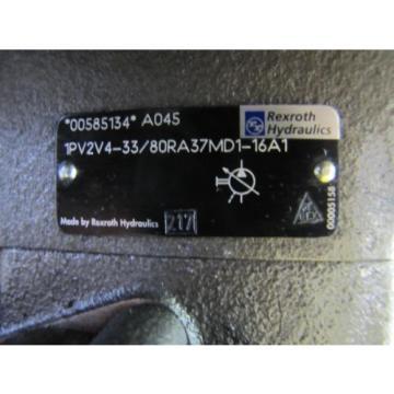 REXROTH Singapore USA 1PV2V4-33/80RA37MD1-16A1 00585134 VARIABLE VANE HYDRAULIC PUMP