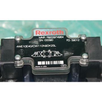 Mannesmann Rexroth 4WE10E40/CW110N9DK25L Hydraulic Solenoid Valve R900974964