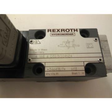Origin REXROTH 4-WE-6-D52/BG24NZ4 DIRECTIONAL VALVE 4WE6D52BG24NZ4