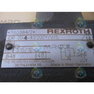 REXROTH India Australia DR20541/200Y/V/5  VALVE *USED*