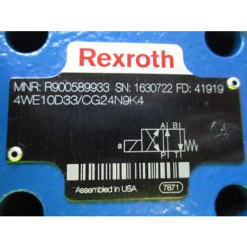Origin REXROTH SOLENOID VALVE 4WE10D33/CG24N9K4