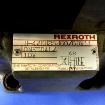 REXROTH 120VOLTS 50/60HZ DIRECTIONAL CONTROL VALVE 4WE6J52/BW110NDALV