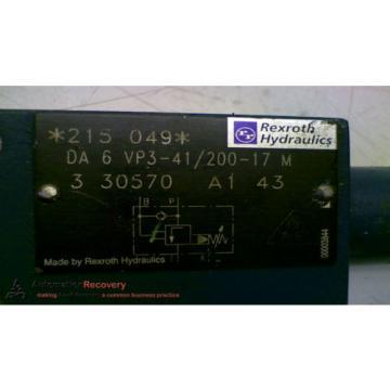 REXROTH DA 6 VP3-41/200-17 M HYDRAULIC VALVE #147826