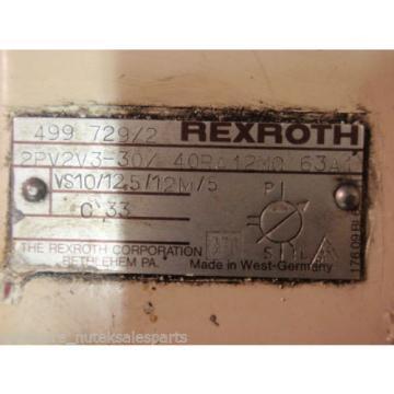 Rexroth Singapore Korea Hydraulic Variable Vane Pump & Motor 2PV2V3-30/40RA12MC63A1_CM3615T 5HP